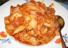 Чахохбили из курицы (кавказский вариант приготовления)